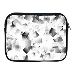 Gray And Silver Cubes Abstract Apple Ipad 2/3/4 Zipper Cases by timelessartoncanvas