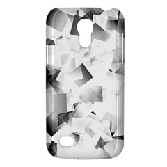 Gray And Silver Cubes Abstract Galaxy S4 Mini by timelessartoncanvas