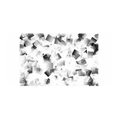 Gray And Silver Cubes Abstract Satin Wrap by timelessartoncanvas
