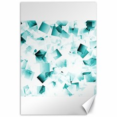 Modern Teal Cubes Canvas 24  X 36  by timelessartoncanvas