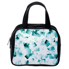 Modern Teal Cubes Classic Handbags (one Side) by timelessartoncanvas
