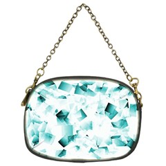 Modern Teal Cubes Chain Purses (two Sides)  by timelessartoncanvas
