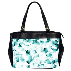 Modern Teal Cubes Office Handbags (2 Sides)  by timelessartoncanvas