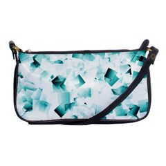Modern Teal Cubes Shoulder Clutch Bags by timelessartoncanvas