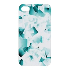 Modern Teal Cubes Apple Iphone 4/4s Premium Hardshell Case by timelessartoncanvas