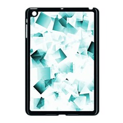 Modern Teal Cubes Apple Ipad Mini Case (black) by timelessartoncanvas
