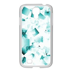 Modern Teal Cubes Samsung Galaxy S4 I9500/ I9505 Case (white) by timelessartoncanvas