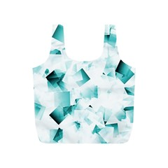 Modern Teal Cubes Full Print Recycle Bags (s)  by timelessartoncanvas