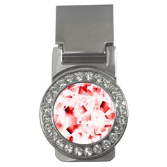 Modern Red Cubes Money Clips (cz)