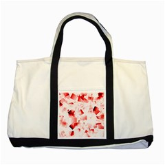 Modern Red Cubes Two Tone Tote Bag by timelessartoncanvas