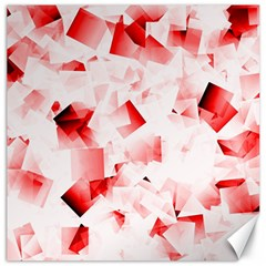 Modern Red Cubes Canvas 16  X 16   by timelessartoncanvas