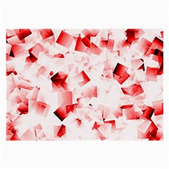 Modern Red Cubes Large Glasses Cloth by timelessartoncanvas