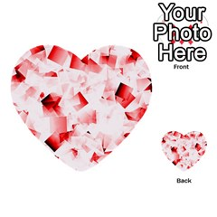 Modern Red Cubes Multi Purpose Cards (heart)
