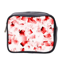 Modern Red Cubes Mini Toiletries Bag 2 Side by timelessartoncanvas