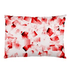 Modern Red Cubes Pillow Cases (two Sides) by timelessartoncanvas