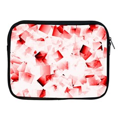 Modern Red Cubes Apple Ipad 2/3/4 Zipper Cases by timelessartoncanvas