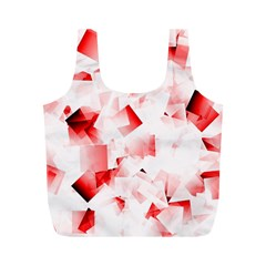 Modern Red Cubes Full Print Recycle Bags (m)  by timelessartoncanvas