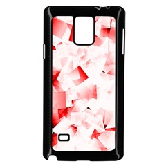 Modern Red Cubes Samsung Galaxy Note 4 Case (black) by timelessartoncanvas