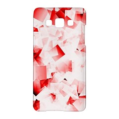 Modern Red Cubes Samsung Galaxy A5 Hardshell Case  by timelessartoncanvas