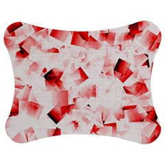 Modern Red Cubes Jigsaw Puzzle Photo Stand (bow) by timelessartoncanvas