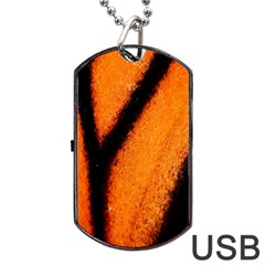 Butterfly Design 4 Dog Tag Usb Flash (one Side) by timelessartoncanvas