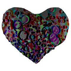 A Dream Of Bubbles 2 Large 19  Premium Flano Heart Shape Cushions by sirhowardlee