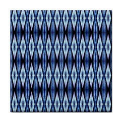 Blue White Diamond Pattern  Tile Coasters by Costasonlineshop