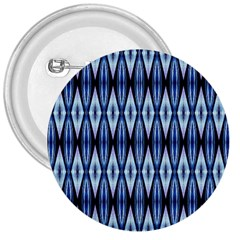 Blue White Diamond Pattern  3  Buttons by Costasonlineshop