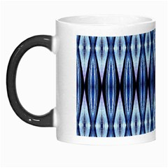 Blue White Diamond Pattern  Morph Mugs by Costasonlineshop
