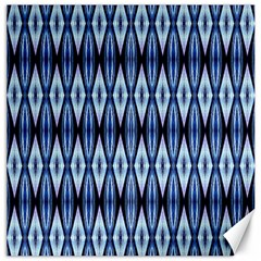 Blue White Diamond Pattern  Canvas 16  X 16   by Costasonlineshop