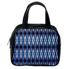Blue White Diamond Pattern  Classic Handbags (one Side) by Costasonlineshop