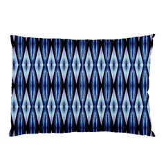 Blue White Diamond Pattern  Pillow Cases by Costasonlineshop