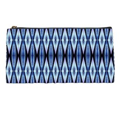 Blue White Diamond Pattern  Pencil Cases by Costasonlineshop