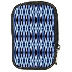 Blue White Diamond Pattern  Compact Camera Cases by Costasonlineshop