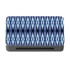 Blue White Diamond Pattern  Memory Card Reader With Cf by Costasonlineshop