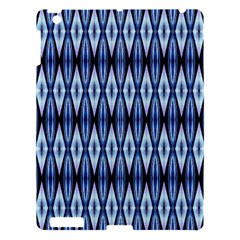 Blue White Diamond Pattern  Apple Ipad 3/4 Hardshell Case by Costasonlineshop