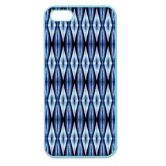 Blue White Diamond Pattern  Apple Seamless Iphone 5 Case (color) by Costasonlineshop