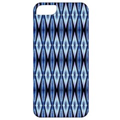 Blue White Diamond Pattern  Apple Iphone 5 Classic Hardshell Case by Costasonlineshop