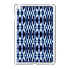 Blue White Diamond Pattern  Apple Ipad Mini Case (white)