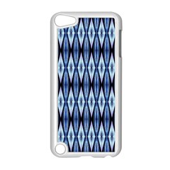 Blue White Diamond Pattern  Apple Ipod Touch 5 Case (white) by Costasonlineshop