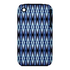 Blue White Diamond Pattern  Apple Iphone 3g/3gs Hardshell Case (pc+silicone) by Costasonlineshop