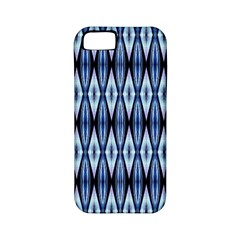 Blue White Diamond Pattern  Apple Iphone 5 Classic Hardshell Case (pc+silicone) by Costasonlineshop