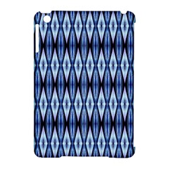Blue White Diamond Pattern  Apple Ipad Mini Hardshell Case (compatible With Smart Cover)