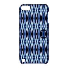 Blue White Diamond Pattern  Apple Ipod Touch 5 Hardshell Case With Stand by Costasonlineshop