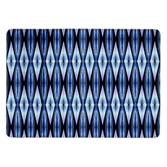 Blue White Diamond Pattern  Samsung Galaxy Tab 10 1  P7500 Flip Case by Costasonlineshop