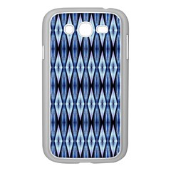 Blue White Diamond Pattern  Samsung Galaxy Grand Duos I9082 Case (white) by Costasonlineshop
