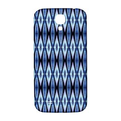 Blue White Diamond Pattern  Samsung Galaxy S4 I9500/i9505  Hardshell Back Case by Costasonlineshop