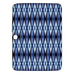 Blue White Diamond Pattern  Samsung Galaxy Tab 3 (10 1 ) P5200 Hardshell Case  by Costasonlineshop