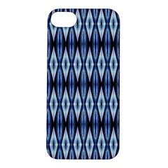 Blue White Diamond Pattern  Apple Iphone 5s Hardshell Case by Costasonlineshop
