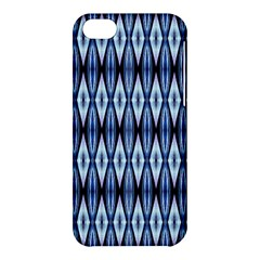 Blue White Diamond Pattern  Apple Iphone 5c Hardshell Case by Costasonlineshop